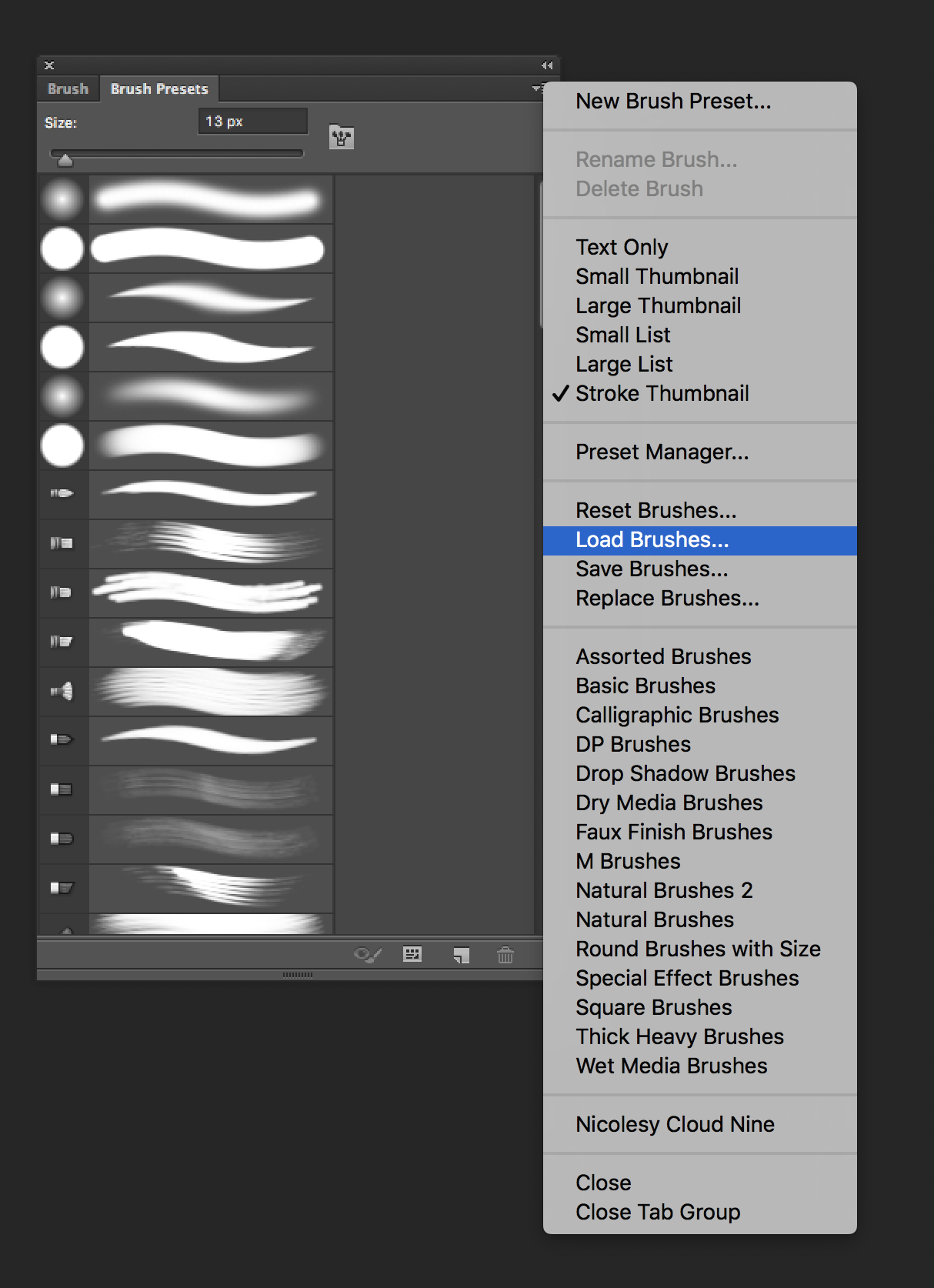 Installing Brush Presets into Photoshop – Help Center
